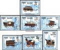 Kambodscha 1067-1073 (kompl.Ausg.) gestempelt 1989 Postkutschen