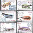 Kuba 2248-2253 (kompl.Ausg.) gestempelt 1977 Kubanischer Luftpostverkehr