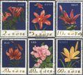 Nord-Korea 1275-1280 (kompl.Ausg.) gestempelt 1974 Blumen