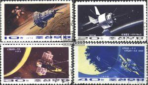 Nord-Korea 1285-1288 (kompl.Ausg.) gestempelt 1974 Raumfahrt in der Sowjetunion