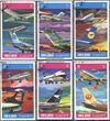 Umm al Kaiwain 603A-608A (kompl.Ausg.) gestempelt 1972 Internationale Fluggesellschaften