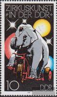 DDR 2365I, 6 Punkte im Kreuz gestempelt 1978 Zirkuskunst