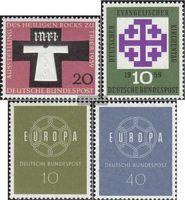 BRD (BR.Deutschland) 313,314,320-321 (kompl.Ausg.) gestempelt 1959 Heiliger Rock, Kirchentag, Europa