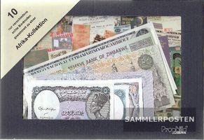 Afrika 10 verschiedene Banknoten