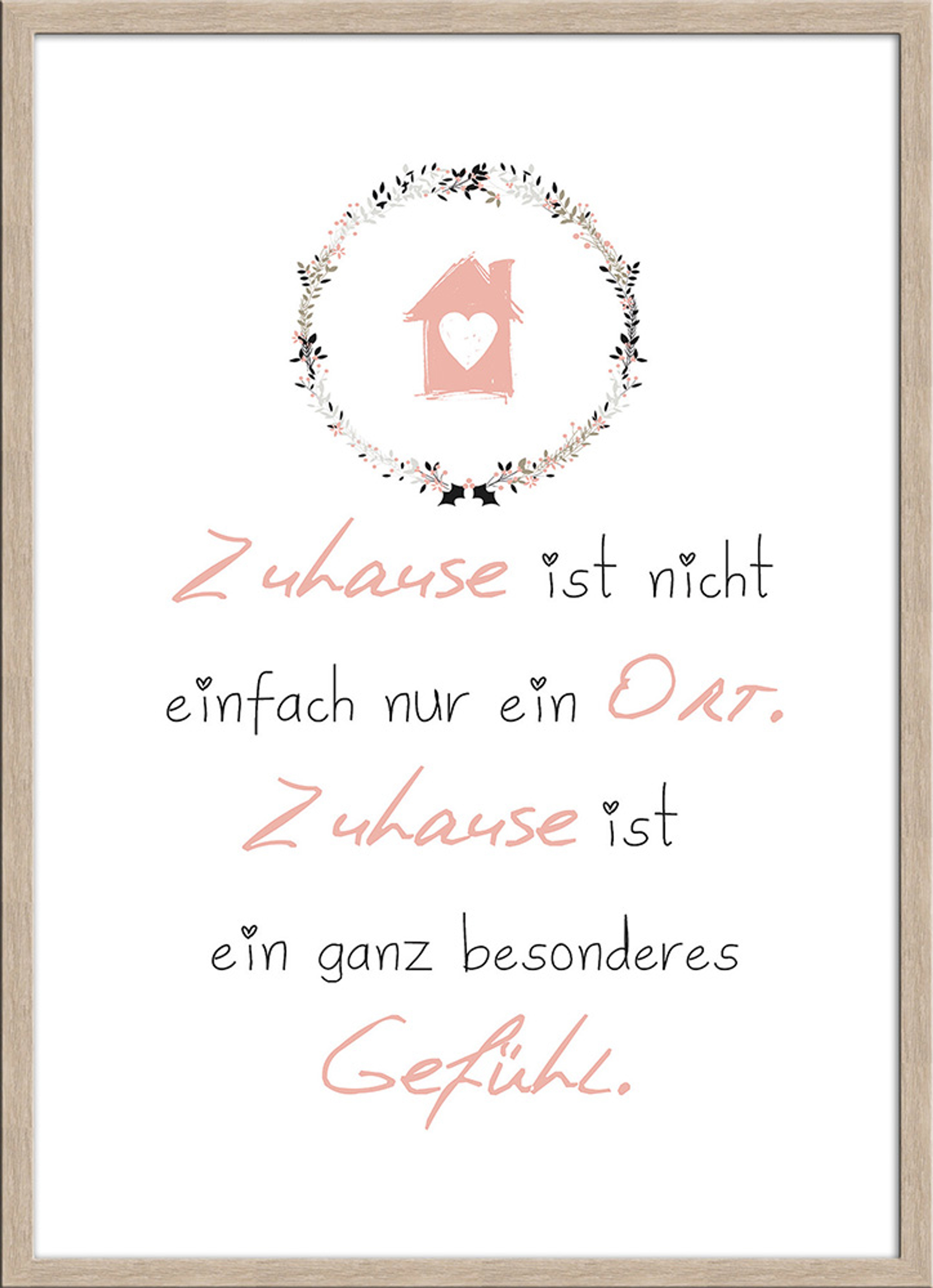 artissimo spruch bild gerahmt 51x71cm poster kunstdruck wandbild bild mit spruch ebay. Black Bedroom Furniture Sets. Home Design Ideas