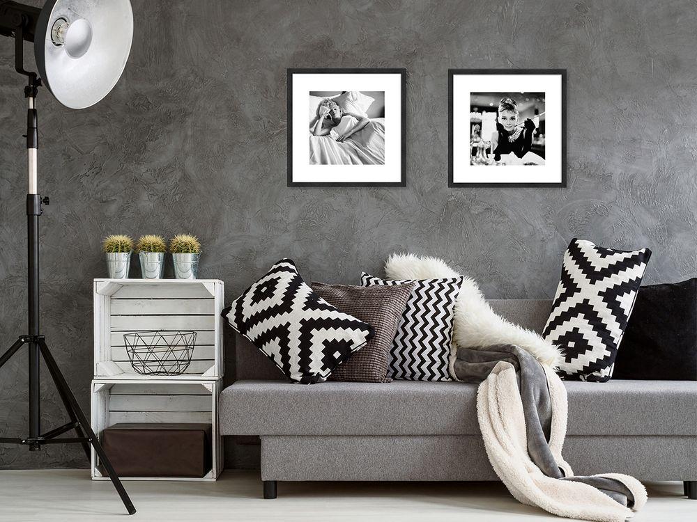 artissimo Poster gerahmt 41x41cm Bild Wandbild mit Echtholzrahmen Marilyn Monroe
