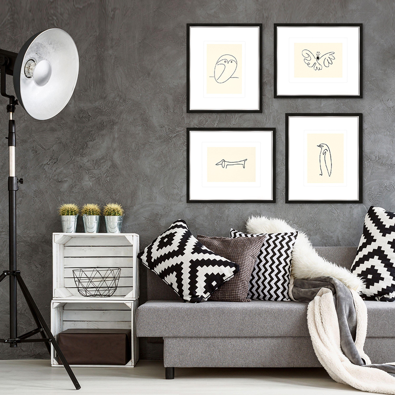 Picasso Bild / Poster gerahmt 53x63cm   Artissimo – art is simply more