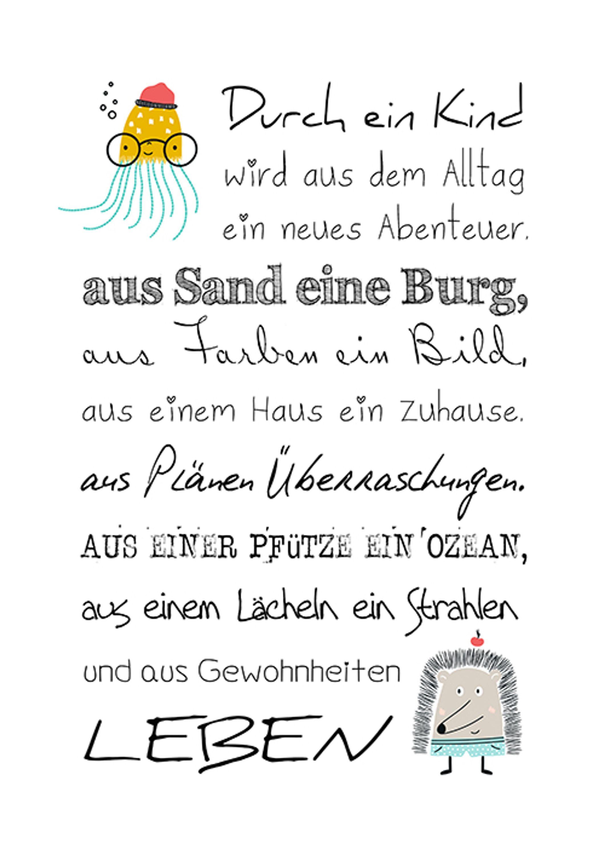 Details Zu Artissimo Poster Mit Spruch Plakat Kunstdruck Bild Wandbild Geburt Kinder Zimmer