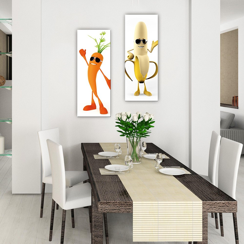 Glasbild 18x18cm Küche Küchenbild Möhre Gemüse