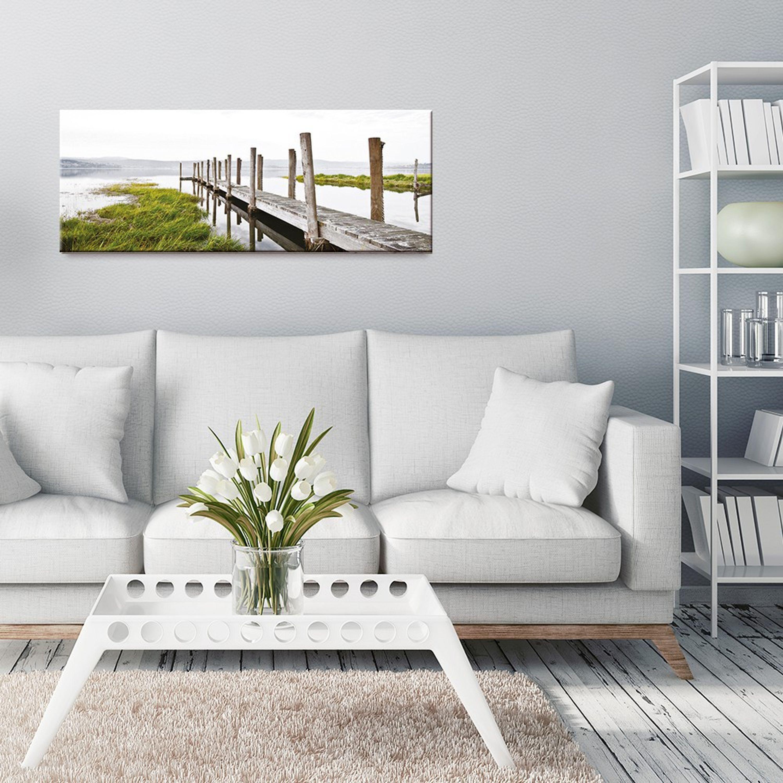 Artissimo Glasbild 80x30cm Bild Aus Glas Wandbild Wohnzimmer Strand