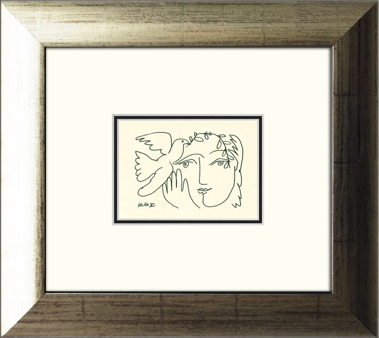 Picasso Bild / Poster gerahmt 39x35cm | Artissimo – art is simply more