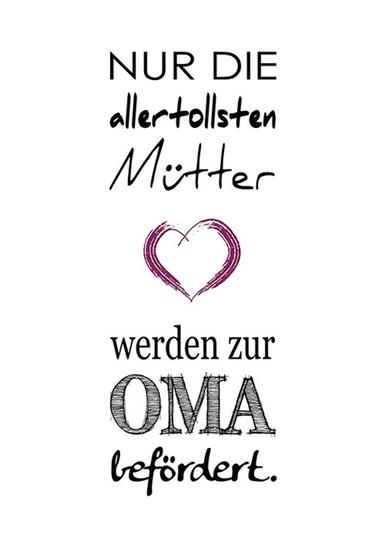 Poster Kunstdruck Plakat Spruch Geschenk Fur Oma Artissimo Art