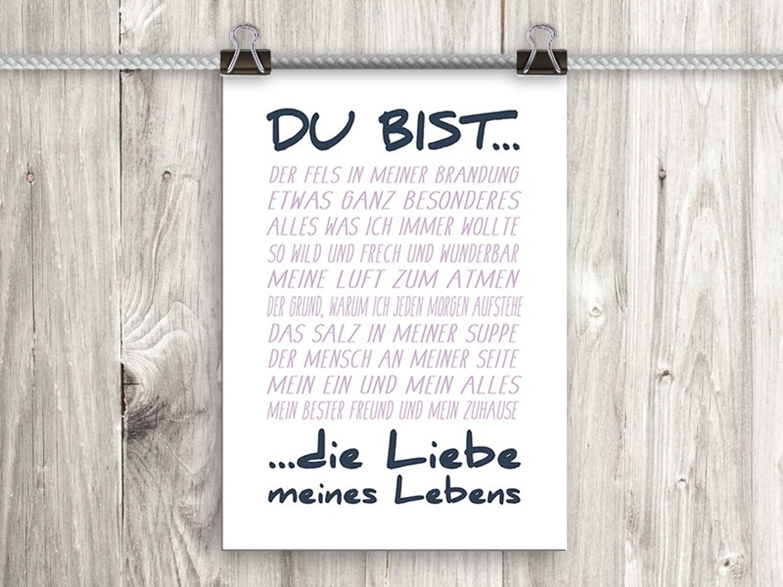 Artissimo Poster Mit Spruch Plakat Kunstdruck Bild Spruche Liebe