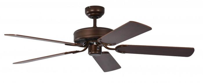 Ceiling Fan Potkuri Aged Bronze, Blades Walnut