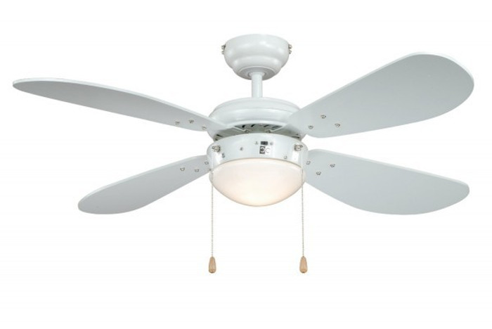 Ceiling Fan Classic White / White with Light