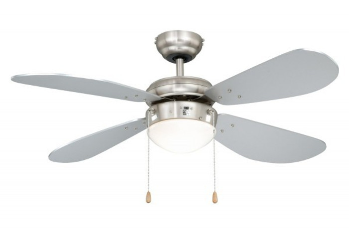 Ceiling Fan Classic Nickel / Silver with Light