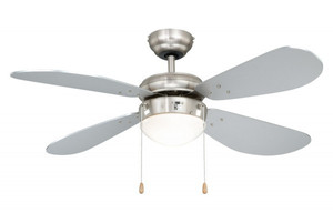 Ceiling Fan Classic Nickel / Silver with Light 001