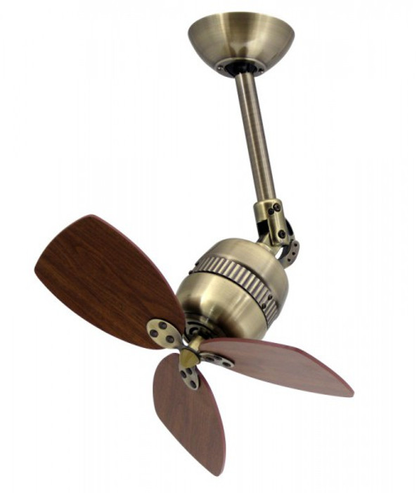 Wall / Ceiling Fan Toledo Brass with Wall Controller