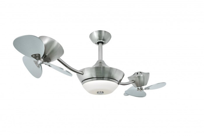 Ceiling Fan eFan Silver with Light & Remote Control