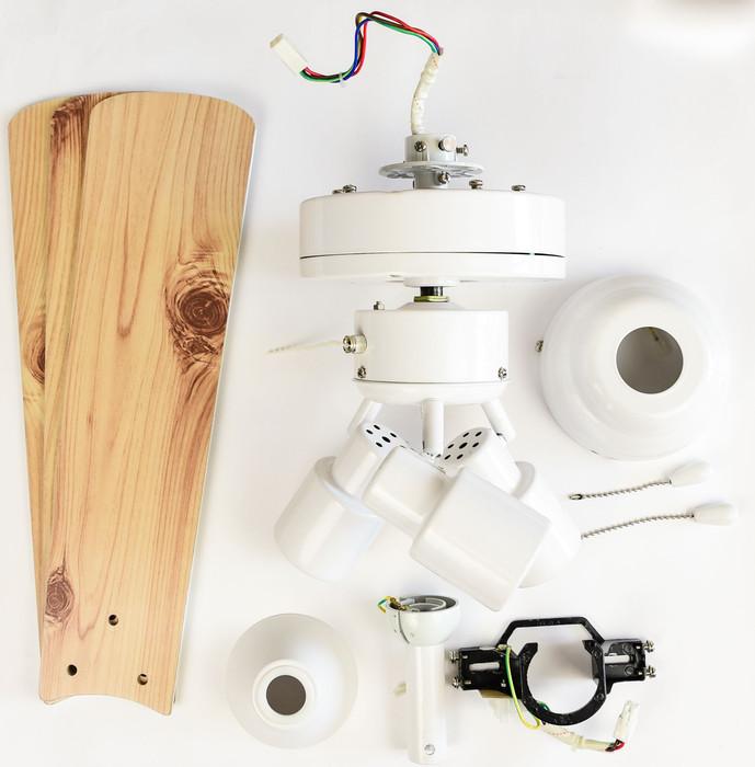 Deckenventilator Cyrus Weiß 107 cm mit Beleuchtung – Bild 9