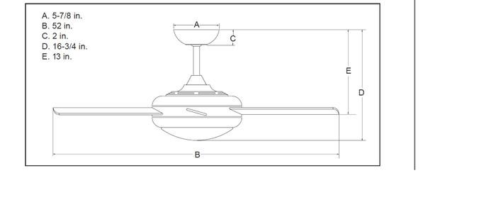 Deckenventilator Ursa Weiß/Pinie, Licht & Fernbedienung – Bild 9