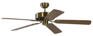Ceiling Fan Potkuri Antique Brass, Blades Oak 001