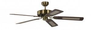 Ceiling Fan Potkuri Antique Brass, Blades Walnut 001