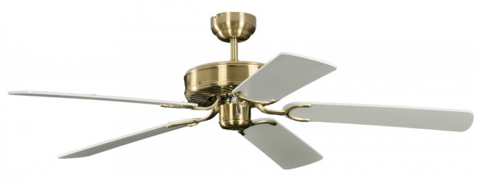 Ceiling Fan Potkuri Antique Brass, Blades White