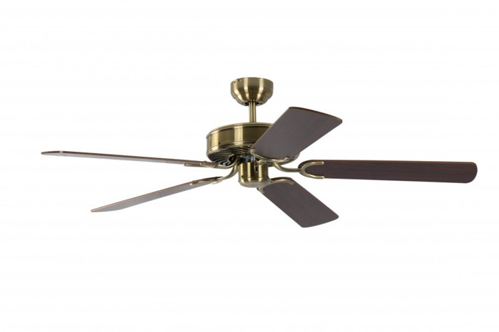 Ceiling Fan Potkuri Antique Brass, Blades Mahogany