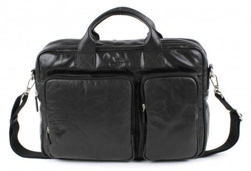 strellson Jones Soft Briefcase Black