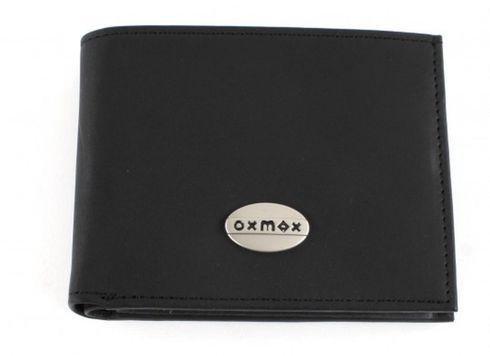 oxmox Leather Pocketbörse Black
