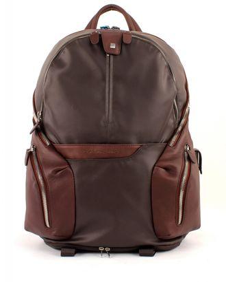 PIQUADRO Coleos Expandable Laptop Backpack Testa di Moro