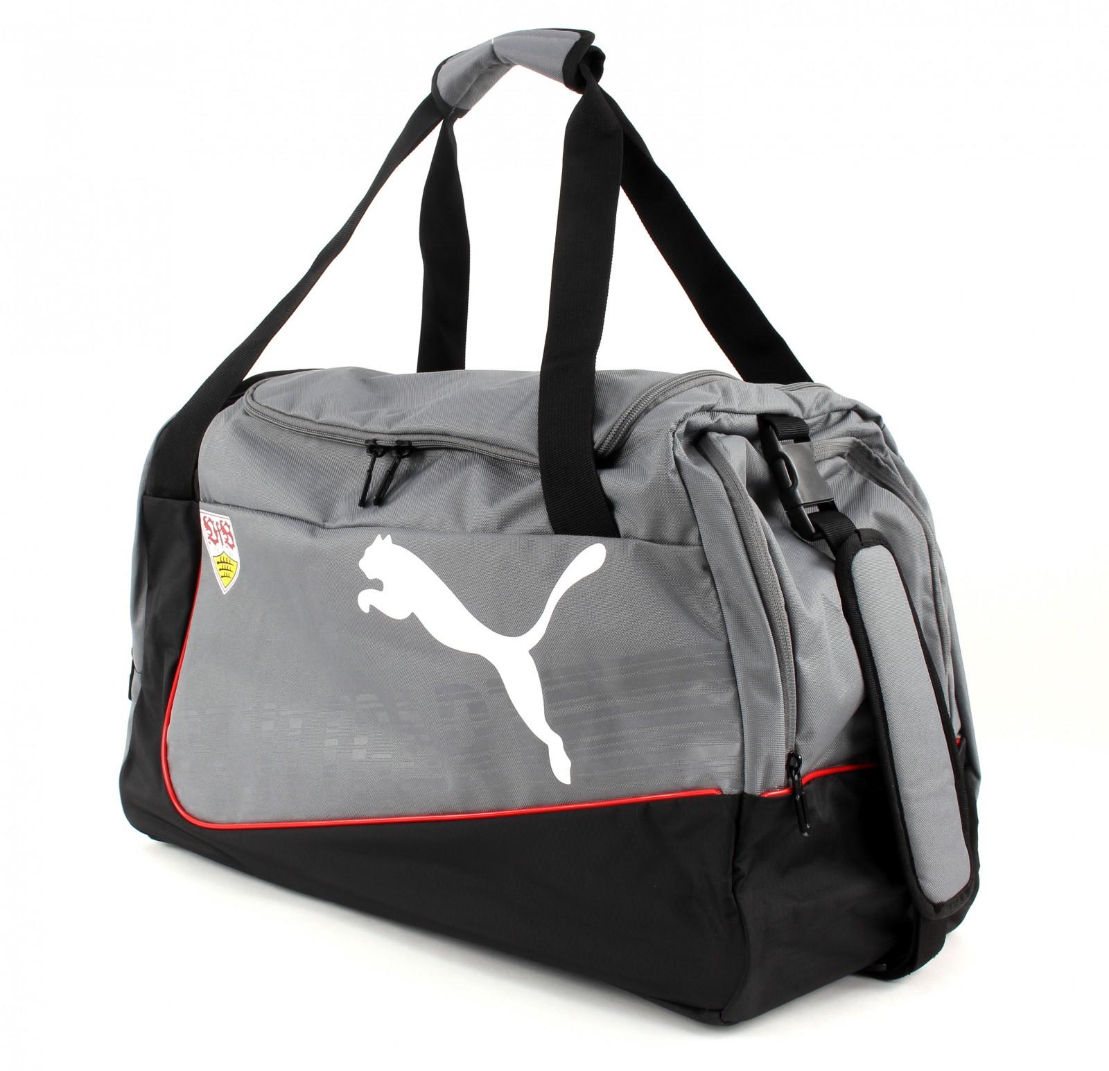 puma sports bag vfb stuttgart evopower medium grey dawn puma black. Black Bedroom Furniture Sets. Home Design Ideas