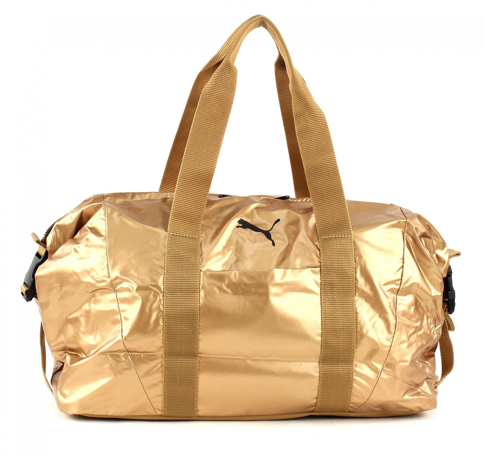 Details zu PUMA Fit AT Workout Bag Gold Tasche Handtasche Sporttasche  Gold-Puma Black