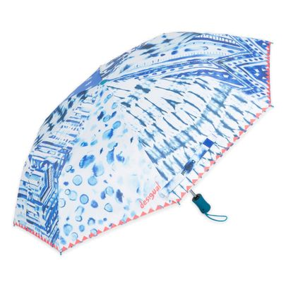 Desigual Umbrella Blue Patch Navy