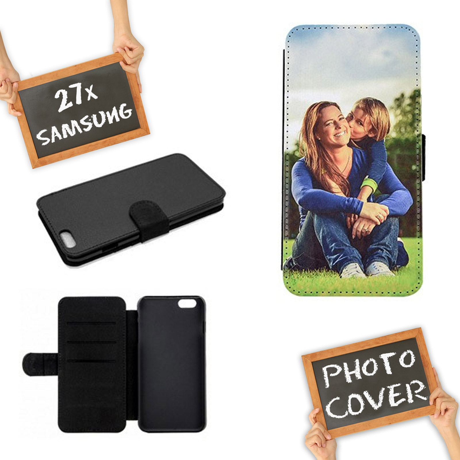 online retailer 88866 c2e38 Personalised Flip Case for Apple iPhone Series * Custom Photo Picture Phone  Cover