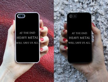 Handyhülle 'At the end heavy metal will save us all'' – Bild 1