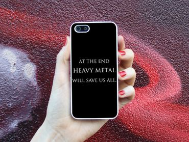 Handyhülle 'At the end heavy metal will save us all'' – Bild 3