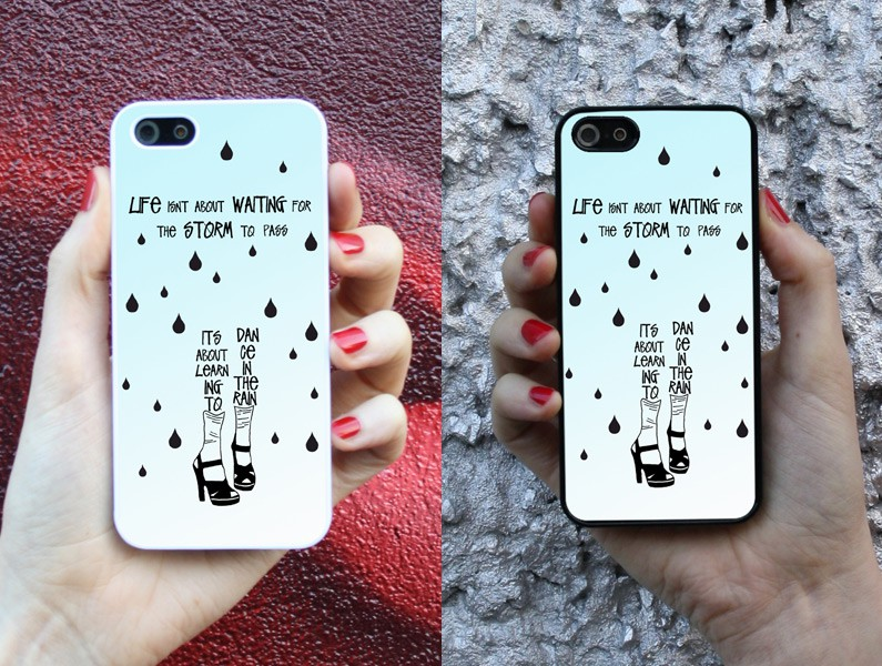 life rain dance spruch handy cover handyh lle iphone 4 5 5s 6 galaxy s4 s5 ebay. Black Bedroom Furniture Sets. Home Design Ideas