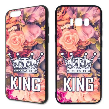 Handyhülle 'King & Queen - Blumen' - Apple | Hardcase – Bild 6