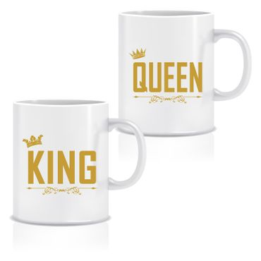 Doppel Tasse 'King & Queen' – Bild 1