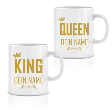 Doppel Tasse 'King & Queen' – Bild 2