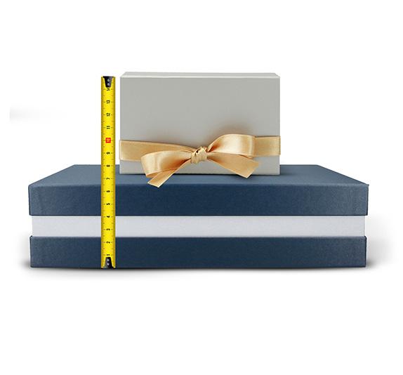 Geschenkbox-Größen