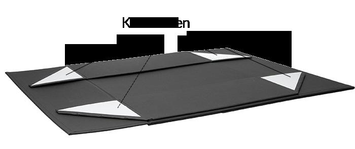 Magnetbox schwarz matt 33x22x10cm