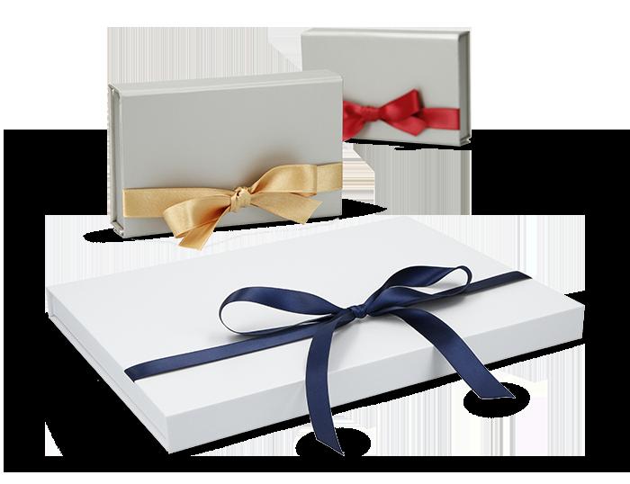 Magnetbox (A4) 30x21x2cm mit Geschenkband geeignet als Gutscheinverpackung