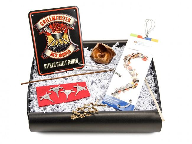 Geschenkbox zur Grillparty Grillgeschenk