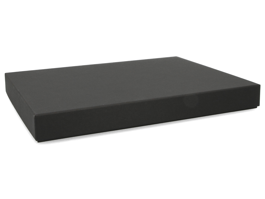 Premium-Geschenkbox - Stülpdeckelbox Geschenkverpackung Made in Germany (schwarz) 33,5x25,5x3,5 cm