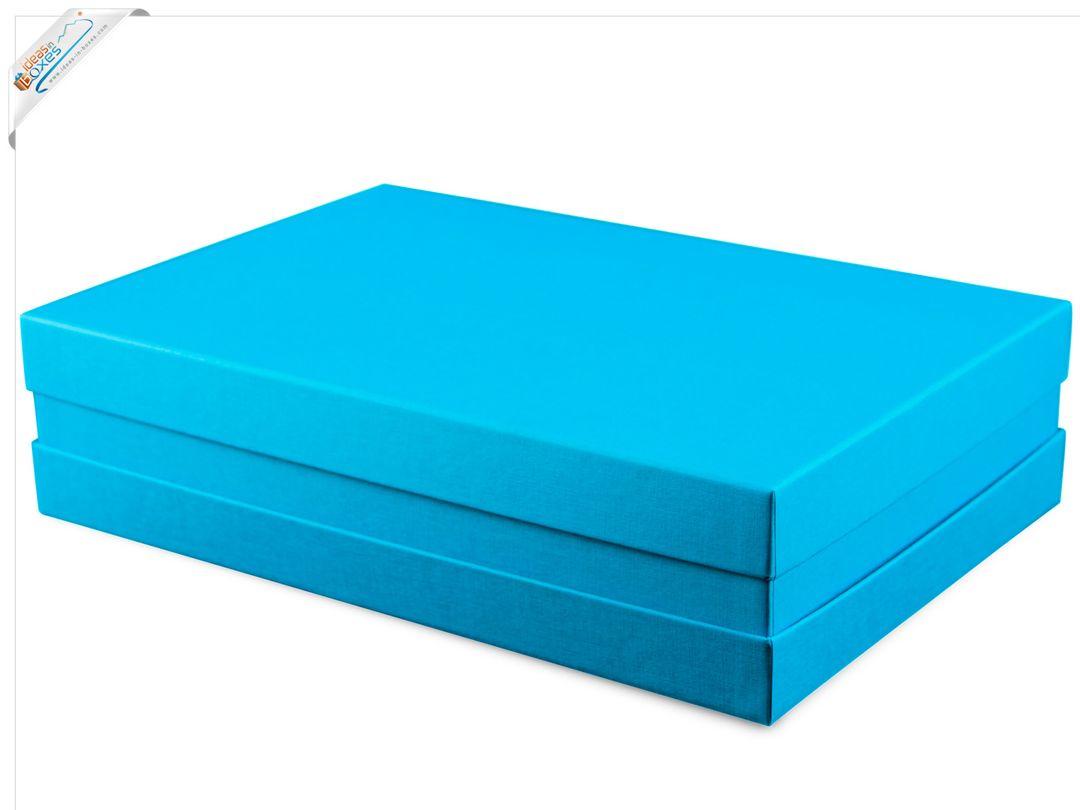 Premium-Geschenkbox - Geschenkverpackung Made in Germany (Türkis) 33x22x8 cm