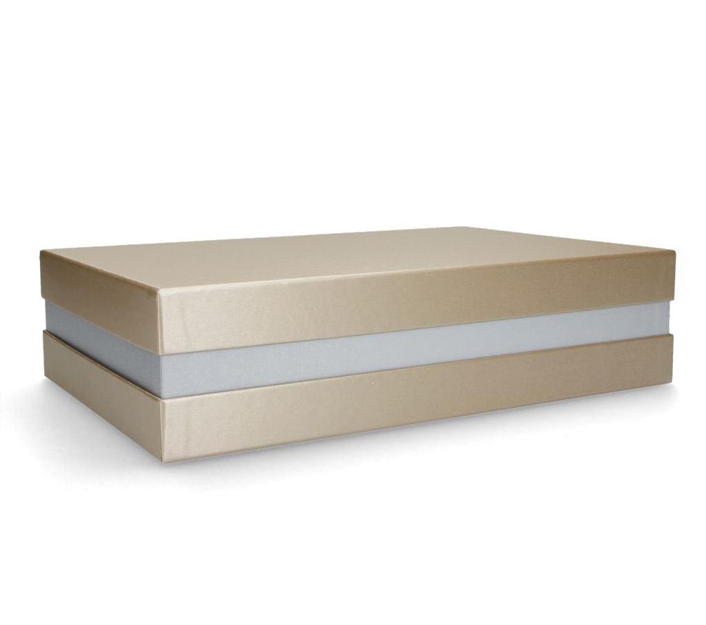 Premium+ Geschenkbox FSC® Made in Germany (Gold, Silber) 33x22x8 cm