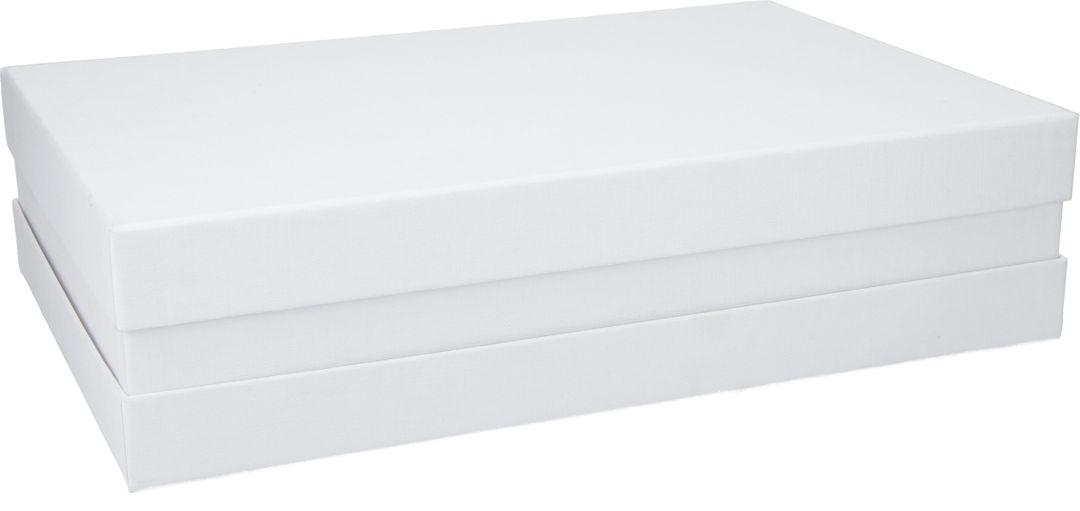 Premium+ Geschenkbox - Geschenkverpackung (Weiß) 41x31x9 cm